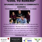 Opunake Combined Korero 12 Sep 2013