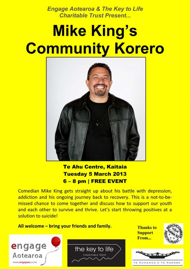 Community Korero Poster Update 1 March