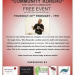Communty Korero Taupo Nui a TiaCollegeHall